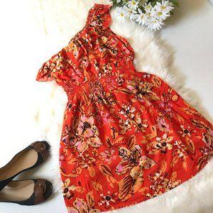 As U Wish One Shoulder Floral Dress